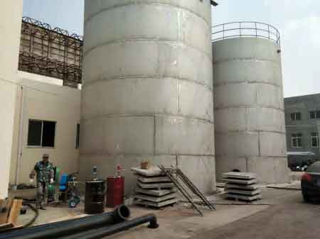 Chemical tanks polyurea corrosi