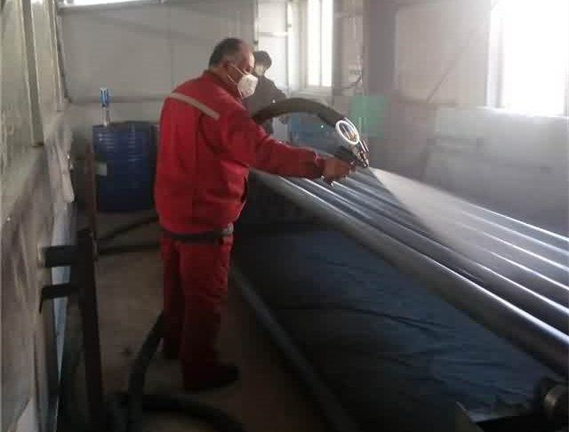 Steel pipe coating